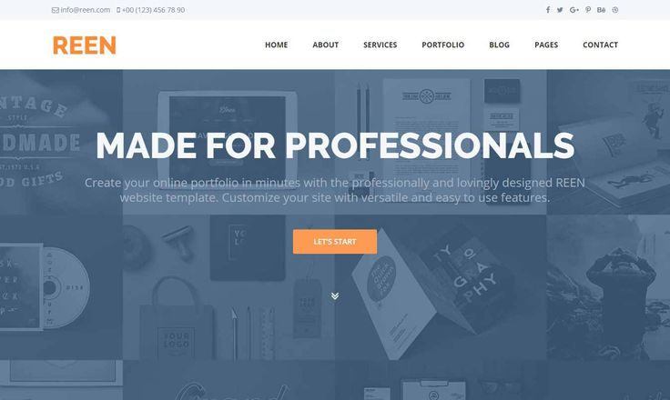 REEN – Free Business Website Template