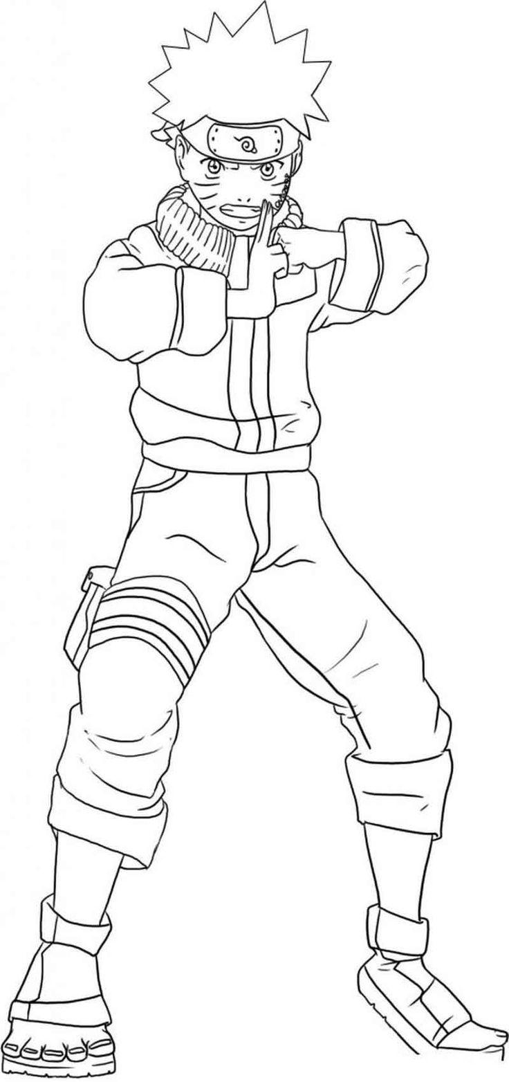 Naruto Coloring Pages To Print (Dengan gambar) Naruto