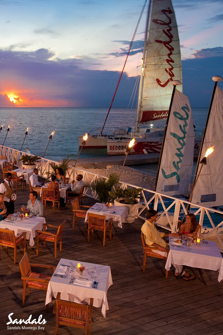 Sunset, sailing and supper. Sandals Montego Bay in Jamaica is absolutely stunning.