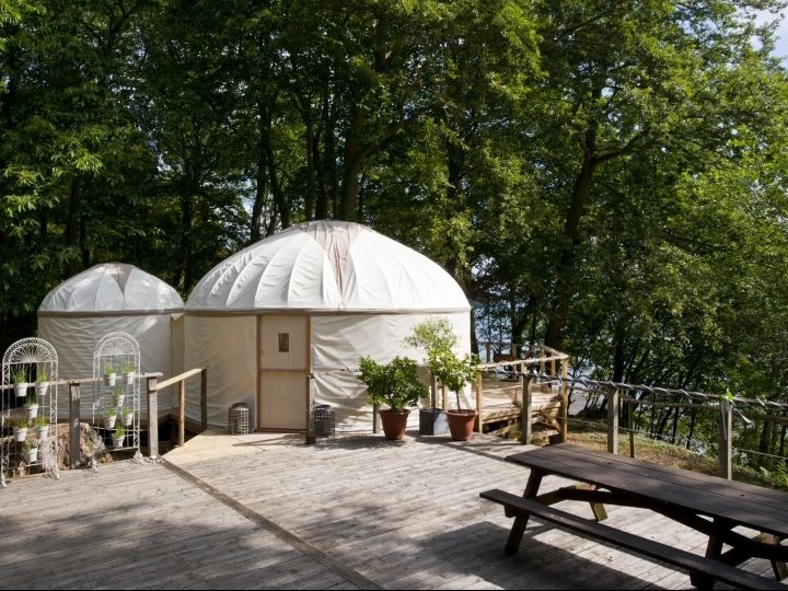 Mini Bathroom Yurt -  New Luxury Yurts at Priory Bay Hotel with relaxed personal service | Packages & Offers | Home