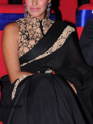 Neha Dupia looked gorgeous in a black Saree
