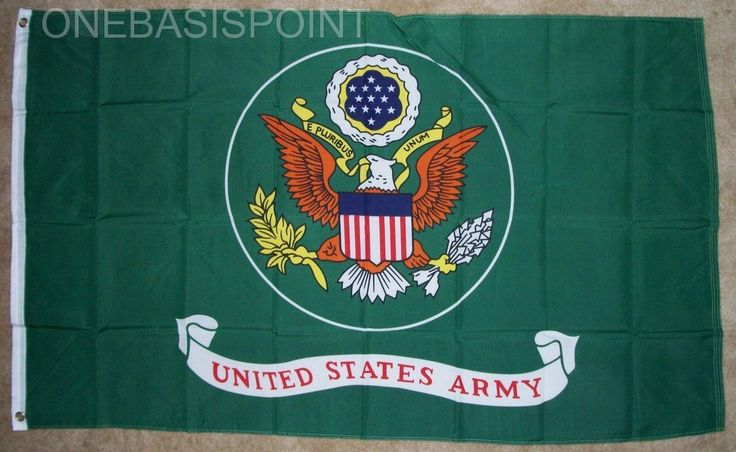 3'X5' Us Army Flag Outdoor Indoor Banner Military Armed Forces Green Pennant 3X5