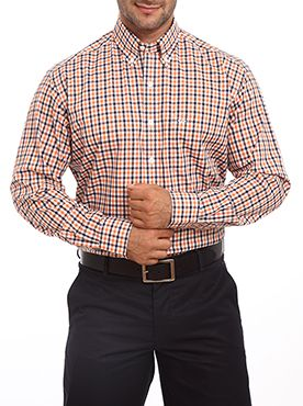 Here is a perfect formal shirt to leave a great impression on your office colleagues. This shirt is made up with good quality fabric which makes it skin friendly. It is a perfect fit light-weighted office wear. You can wear it any of the days as it looks so stylish and trendy. This checkered shirt comes with full sleeves regular cuffs and a collar. This shirt has button cuffs and a full button placket on the front which gives you a perfect fit. It comes from a renowned brand like ...