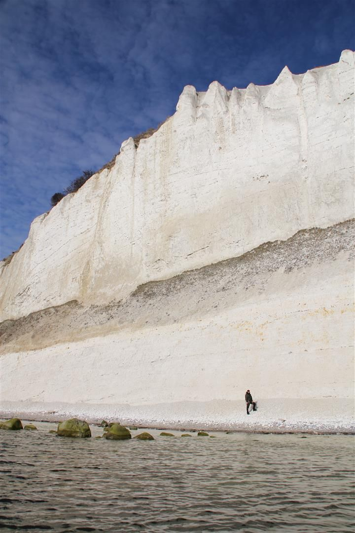 White. Impressing. Huge. Chalk cliffs on Møn! Truly a spot a seatrout-angler must have fished and enjoyed ....