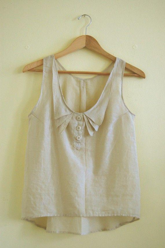 Collar detail top blouse