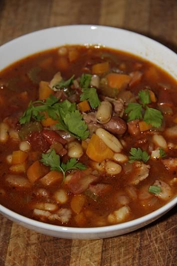 Bean Soup. That really doesn't appeal to me. It sounds brown, thick and kind of drain-water-ish.