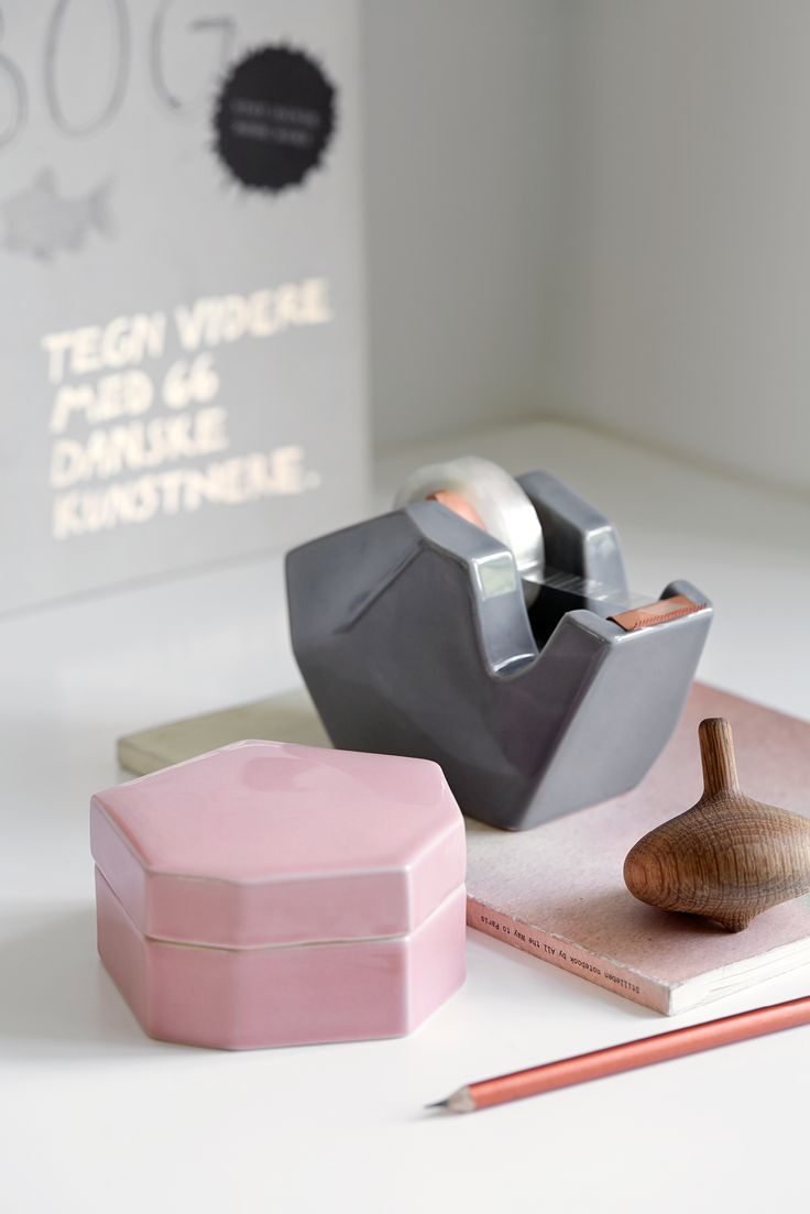 Add charm to your office with the new Officina series from Kähler. The Officina series includes book stands, pen holders, letter stands, storage jars, and tape dispensers.