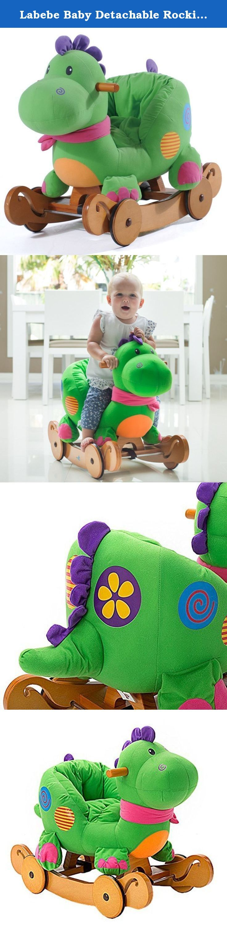 Labebe Baby Detachable Rocking Horse Green Dinosaur Rocker Ride on Toy. Feet off the ground motion for children to feel is very wonderful. Rocking back and forth, with the pony activities together,be able to fully experience the charm of inertia, at the same time it can practice your baby's balance,coordination. Also,it's a good training for baby's courage and adventurous spirit, improving the baby's self-confidence. Horse riding can also prevent sensory integration disorder. Material…