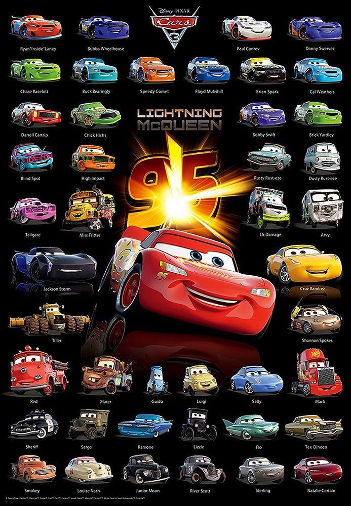 New 1000 Piece JIGSAW PUZZLE CARS 3 Disney(51 x 73.5cm