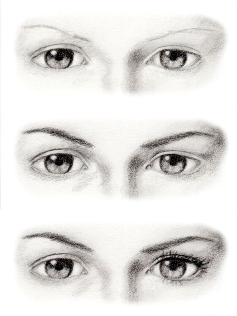 how to draw semi conscious eyes