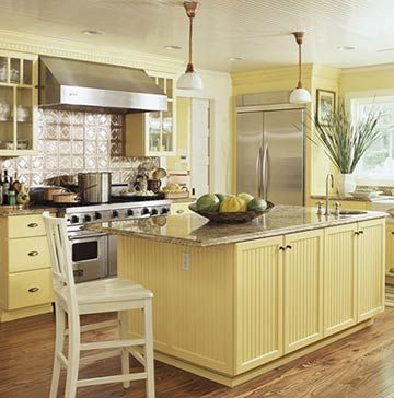 Kitchen Color Schemes On Yellow Cream Cabinets Design Building