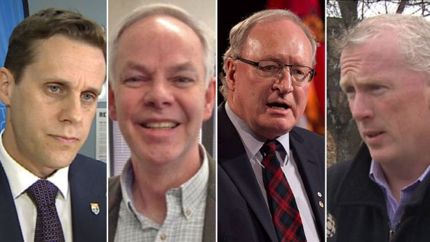 The four P.E.I. party leaders outlined how much they think it will cost to deliver their campaign promises. (CBC)