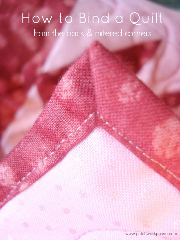 Learn how to bind a quilt using the quilt back.  Quick and simple to sew | patchwork posse