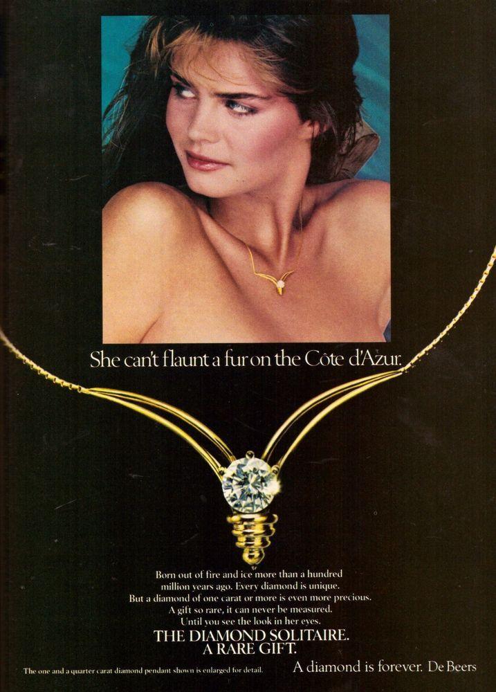 1982 DeBeers A Diamond is Forever Ring Advertisement Print Ad Vintage VTG 80s | eBay