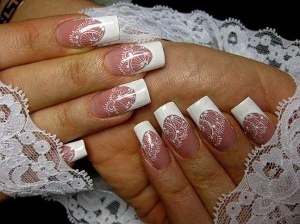 Дизайн свадебные ногти