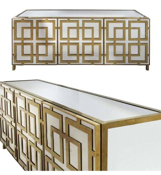 Top pick #6 by Jennifer Brouwer www.jenniferbrouwerdesign.com   Furniture Company   Bernhardt | Soho Luxe Sideboard 368-131   The new modernism­­­—a brighter, lighter, and more contemporary aesthetic. This extremely sophisticated cabinet features laser-cut brass metal fretwork over inset mirrored glass for a visual effect that is both warm and cool, of-the-moment and retro. Metal frame. #HPmkt