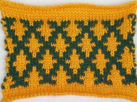 Фанговый узор вязания в для жакетов стиле Шанель. №58 от Натальи Некрасовой - YouTube