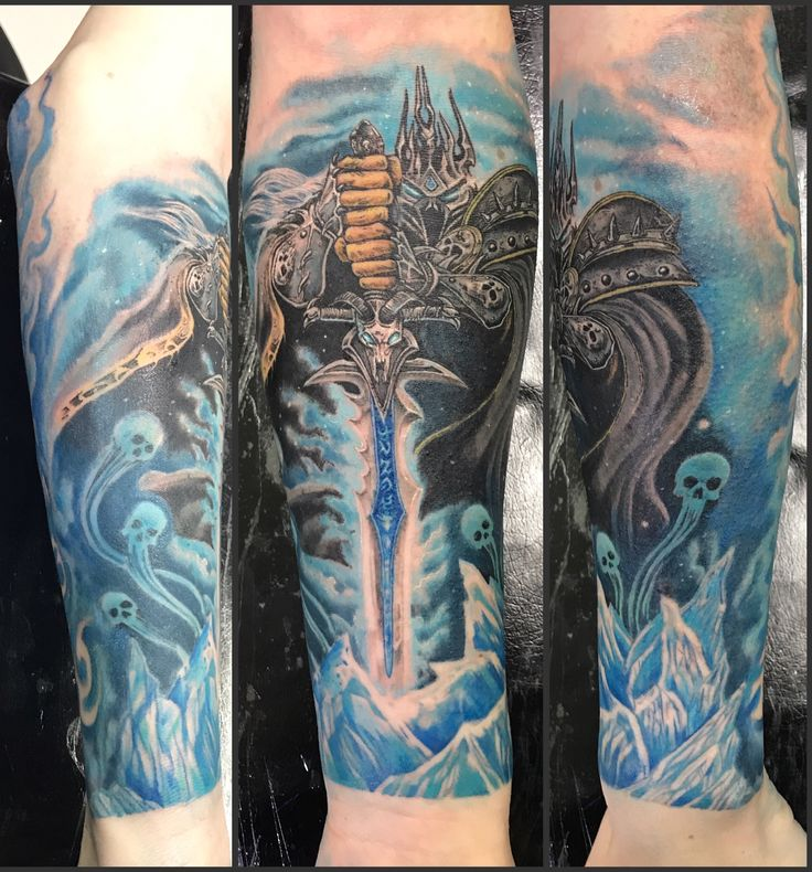 639 best my tattoos images on pinterest for Lich king tattoo