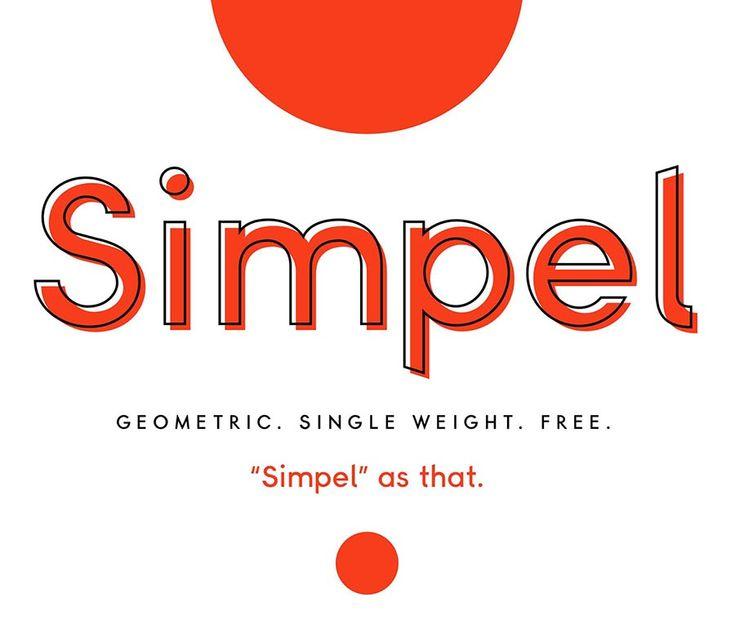Simpel Free Geometric Sans