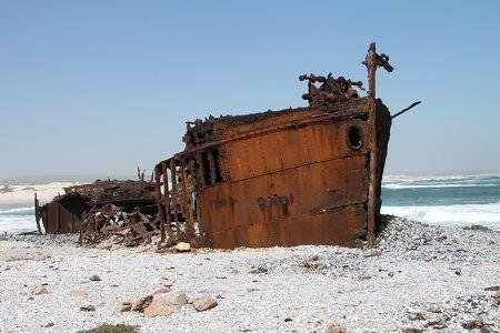 Shipwreck near Kleinsee, Namaqualand