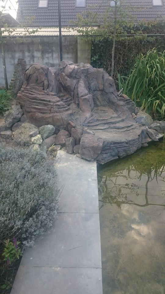 Waterfall Artificial Rockwork Made Out Of Concrete I Made