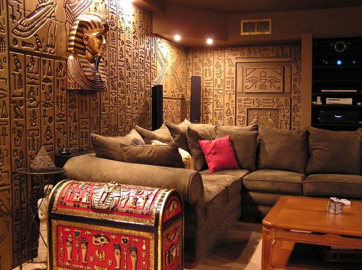 Egyptian theme home egyptian tomb home theater photos for Ancient egyptian tomb decoration