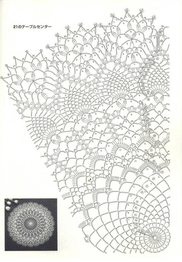 Elegant crochet diagram patterns free crochet doily lace