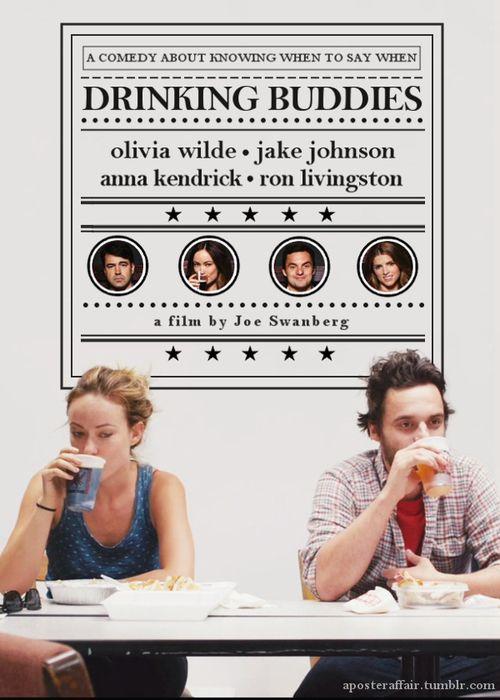 Drinking Buddies (2013)  Director: Joe Swanberg  Olivia Wilde, Jake Johnson, Anna Kendrick, Ron Livingston
