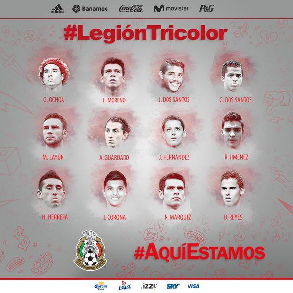 Lista la convocatoria de la Selección Mexicana para jugadores que participan en el extranjero.