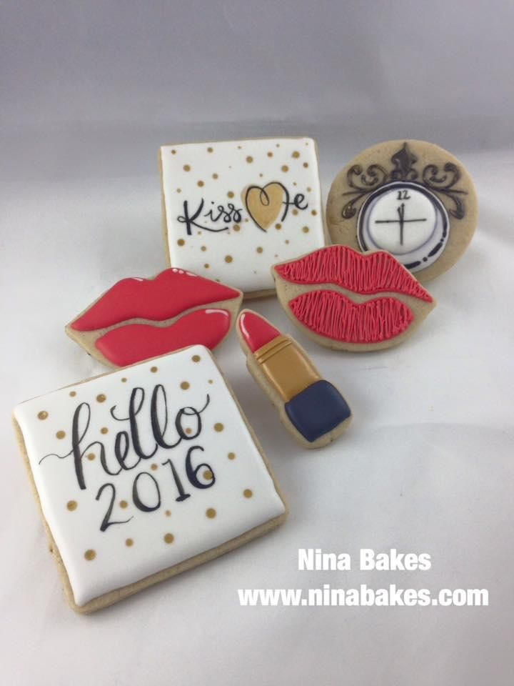 New Year's Eve Cookies - Hello 2016