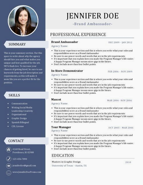 a resume is a brand ambassadors most valuable asset  pick