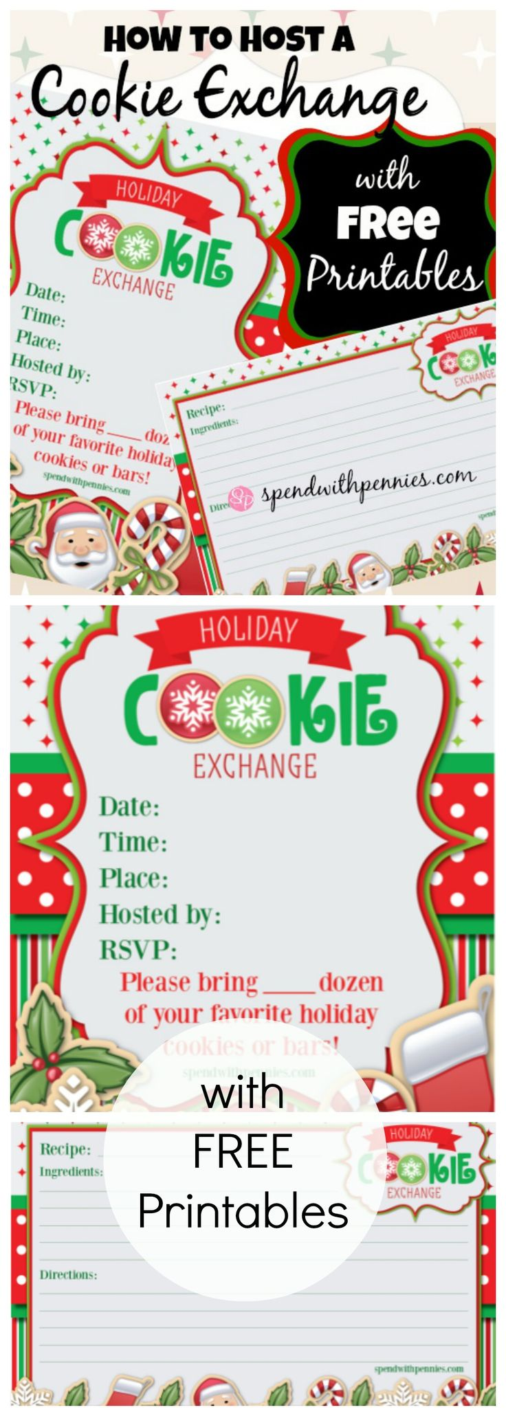 How To Host A Cookie Exchange! Free Printable Invitations And Recipe Cards