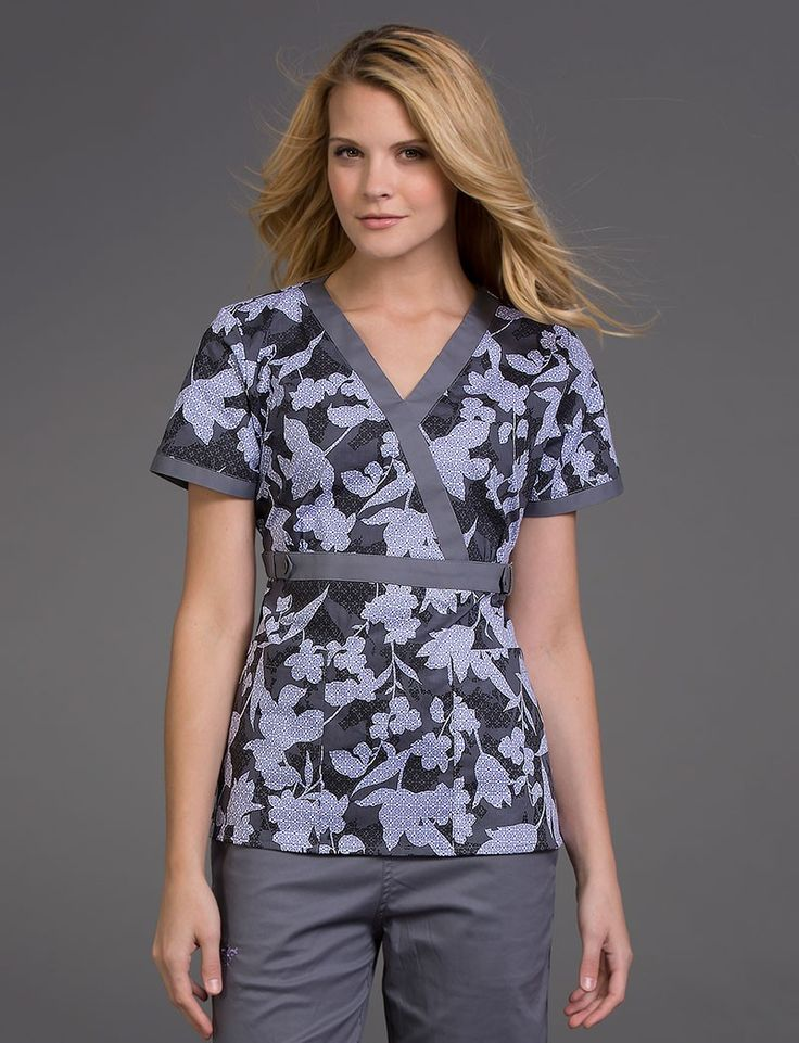 Milan Pattern Effects Print Scrub Top