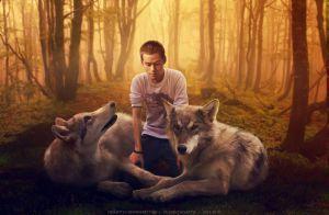 Derek, Stiles, Isaac by chouette-e