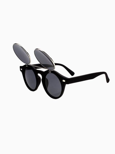 Two-Double Vintage Sunglasses In Matte Black