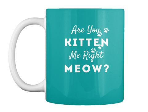 Are You Kitten Me Right Meow Mug How would a cat owner say: Are you kiddin' me right now? If you love the humor behind this message, then this tee is for you. Cat owners will also appreciate this as a present.  #cats  #catlovers  #catowners  #loveit  #catopedia  #kitty  #kittylove  #mugs  #funnymessages  #goodvibes  #meow  #kittens