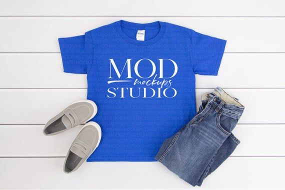 Download Gildan T Shirt Mockup Gildan Youth 5000b Royal Blue Boys Etsy Shirt Mockup Boys T Shirts Tshirt Mockup