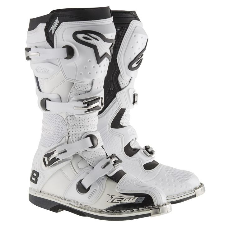 Bottes cross Alpinestars TECH 8 RS - WHITE