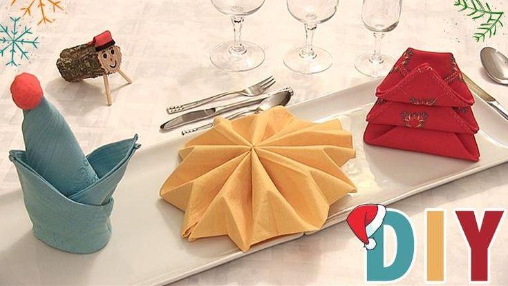 M s de 1000 ideas sobre doblar las servilletas en - Origami con servilletas ...