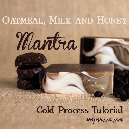 Oatmeal, Milk and Honey Mantra Swirl Soap from SoapQueen.Com