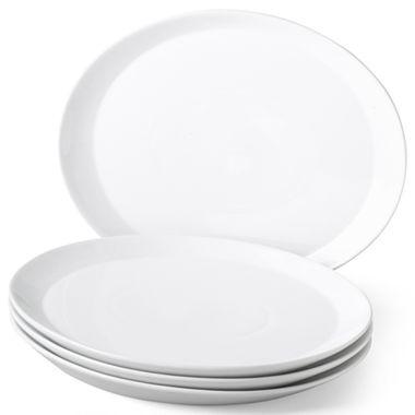 cooks™ White Oval Dinner Plates - Set of 4 - jcpenney - $27  sc 1 st  Pinterest & 21 best retro images on Pinterest | Dishes Dinner plates and Dinner ...
