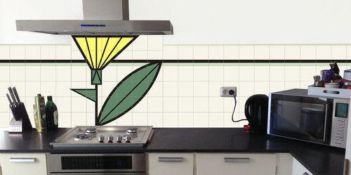 Toepassing in keuken art deco jaren 39 30 pinterest art deco deco en tegels - Badkamer deco model ...