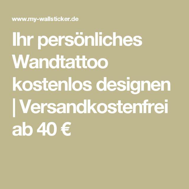 Ihr persönliches Wandtattoo kostenlos designen | Versandkostenfrei ab 40 €