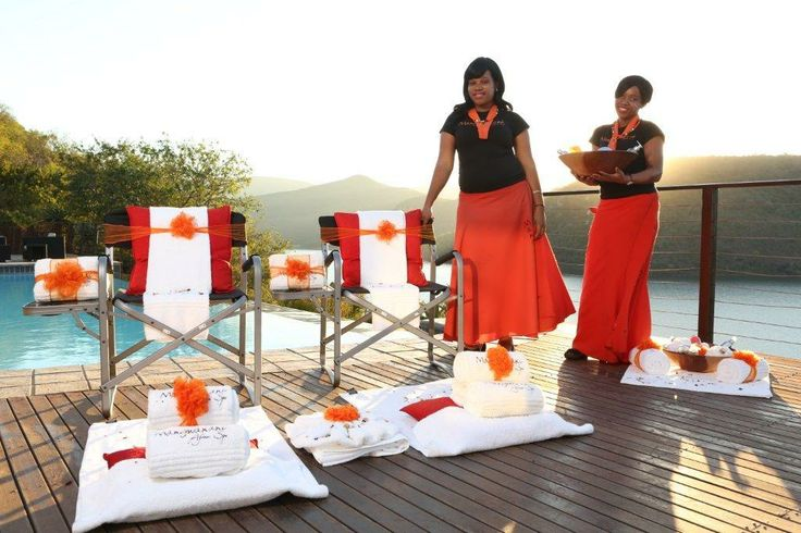 Our lovely spa ladies will massage you pool side!
