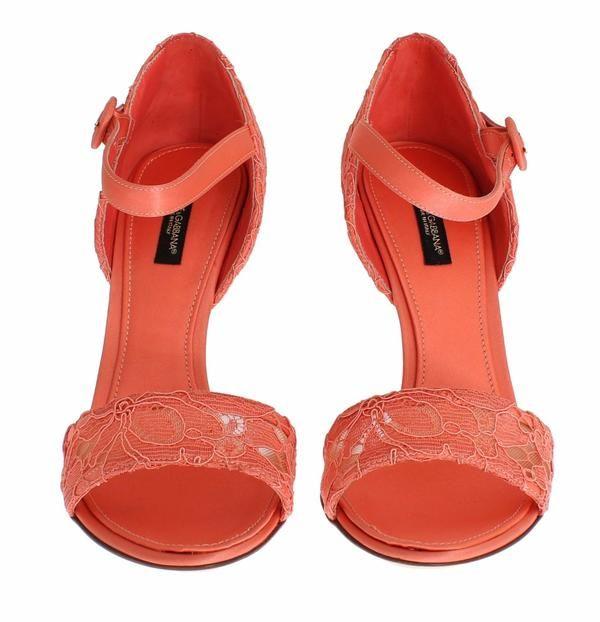 Peach Taormina Lace Heels Mary Janes Dolce & Gabbana  MOM26725  €248.00 ///  €619