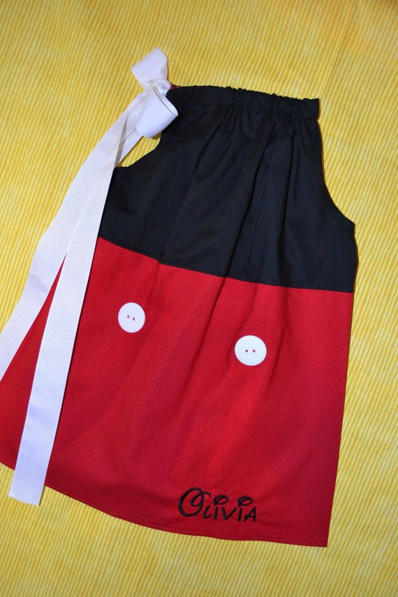 Girls Classic Mickey Mouse Pillowcase by boogerbearpunkinpooh & 196 best images about pillowcase dresses on Pinterest   4th of ... pillowsntoast.com