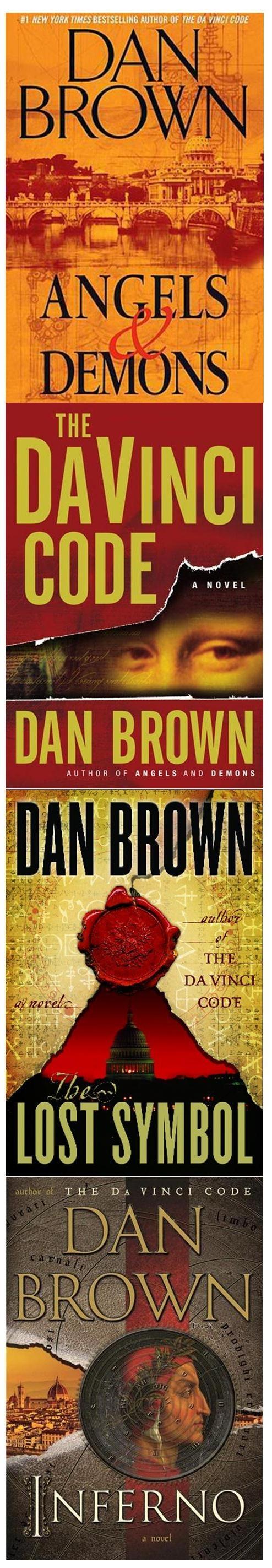 Dan Browns Robert Langdon Series Angels And Demons The DaVinci Code Lost