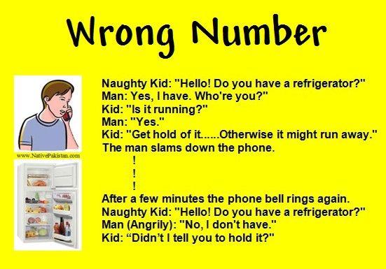 Naughty Kid Funny Joke in English