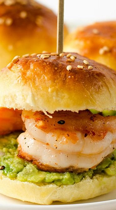 Mini Shrimp Guacamole Sandwich