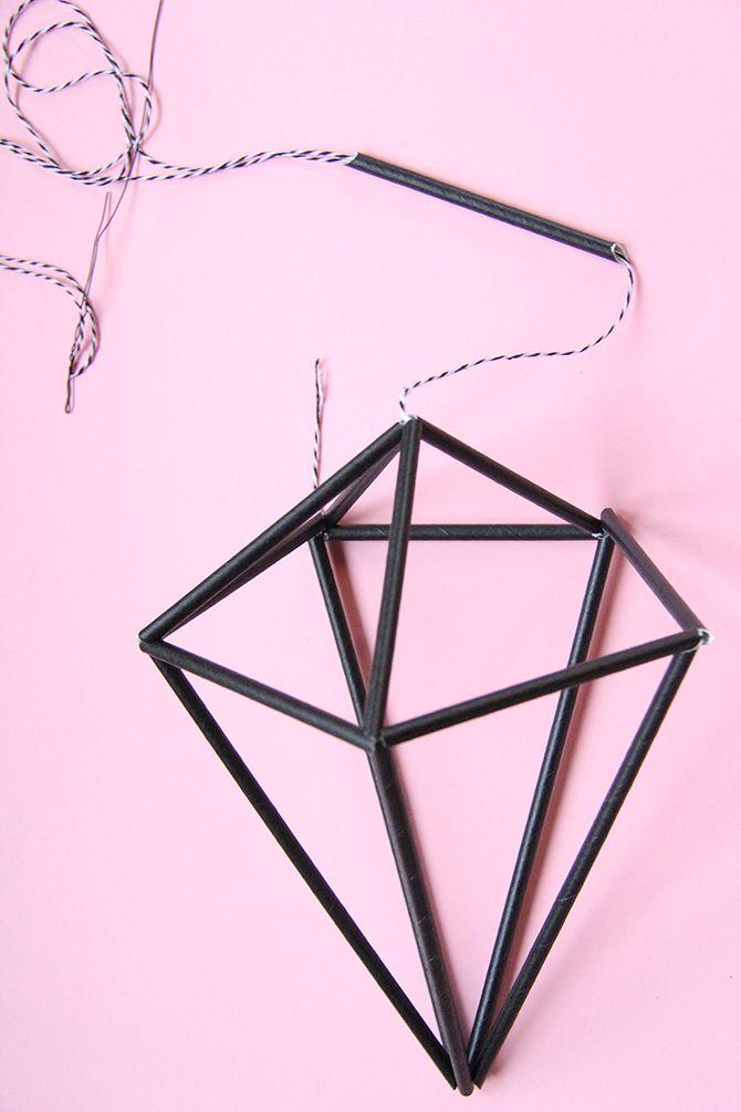DIY Diamond himmeli   tutorial